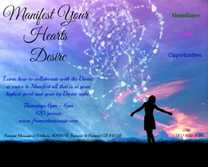 Manifest Your Hearts Desire FLyer